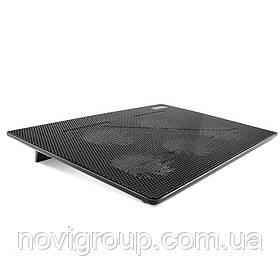 """Підставка під ноутбук Pccooler N130, 10-14 """", 2 * 90mm BLUE LED 1200 ± 10% RPM, корпус пластик, 2xUSB 2.0,"""