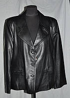 Пиджак кожаный длина-65см; 56р-62р ОГ-118.126 ;ОБ-122.128