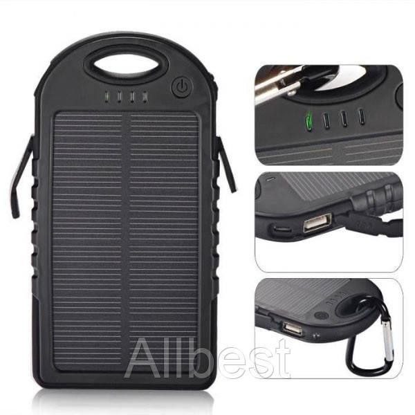 Зарядное устройство Power Bank Solar 10000 mAh Black