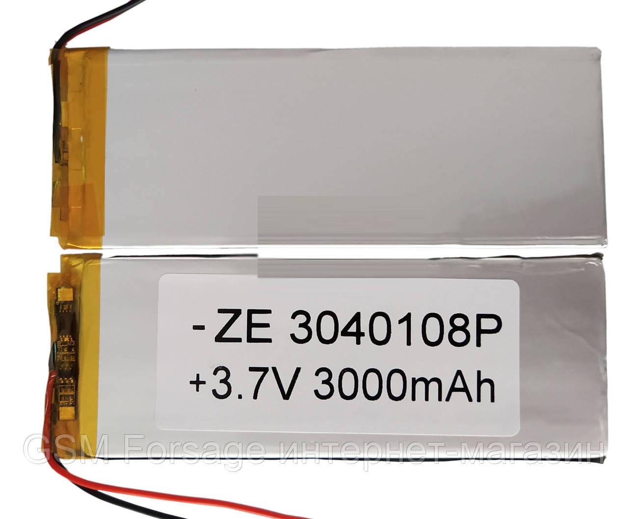 Аккумулятор универсальный 3040108 4 cm х 10.8 cm 3.7v 3000mah