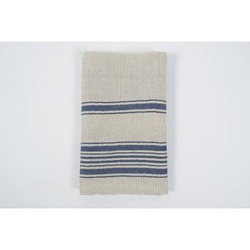 Кухонное полотенце вафельное Barine - Epicure navy stripe 50*70