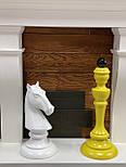 Великі шахові фігури скульптури з дерева, фото 5