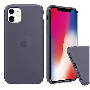 Чехол накладка xCase для iPhone 11 Silicone Case Full lavender gray
