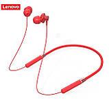 Бездротові навушники Lenovo HE05 red Bluetooth навушники з блютузом, фото 2