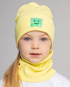 Комплект (шапка хомут) для дівчинки на весну-осінь оптом - Артикул 2787