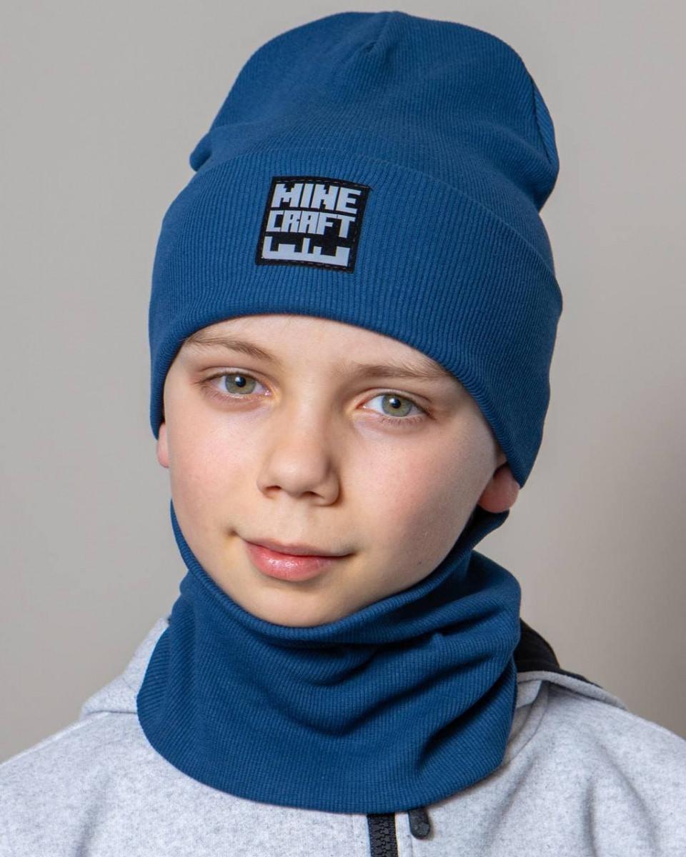 Комплект (шапка хомут) для хлопчика на весну-осінь оптом - Артикул 2804