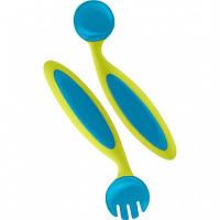 Гнущиеся силиконовые ложки и вилки BENDERS Blue -  Boon