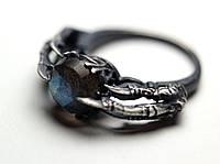"Серебряное кольцо ""Underworld"" с лабрадоритом от WickerRing"