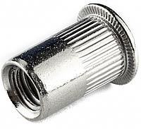 Резьбовая заклепка М6 из нержавеющей стали А2 с плоской головкой Rivettop