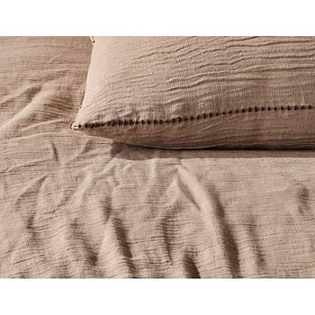 Постільна білизна Buldans - Agora kum beji пісочно-бежевий king size