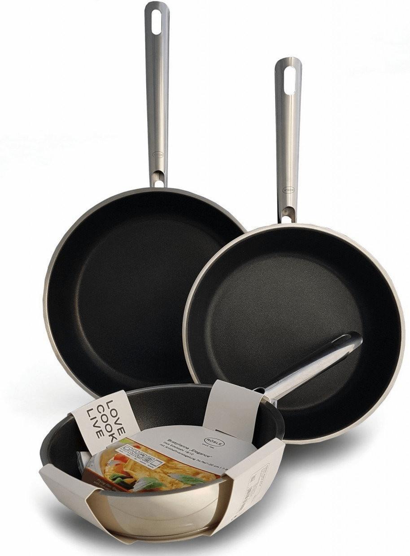 Набор сковородок Rosle Elegance 3 предмета 20 24 и 28 см нержавеющая сталь антипригарное покрытие ProPlex