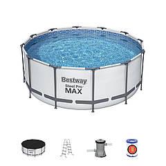Bestway 56420/56088 (366х122 см) полный комплект. Каркасный круглый бассейн