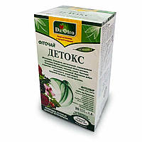 Фиточай «ДЕТОКС», фитосбор плодов, ягод, листьев, «Dr. Фіто», 30 гр./ 20 пакетиков
