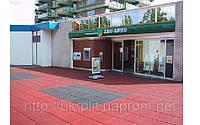Резиновое напольное покрытие для торговых центров