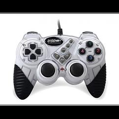 Ігровий комп'ютерний джойстик PC Double shok 2 DJ-FHJ906 Білий