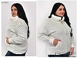 Куртка из альпаки большого размера АЛЬПАКА Украина Размеры: универсальный 50-54, фото 3