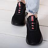 Кроссовки женские 36 размер 23,5 см Черные, фото 3
