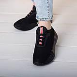 Кроссовки женские 36 размер 23,5 см Черные, фото 5