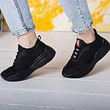 Кроссовки женские 36 размер 23,5 см Черные, фото 2