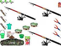Набор для рыбалки, Набор рыболовных снастей, Набор рыболовный, Спиннинг с катушкой, набор рыбака!