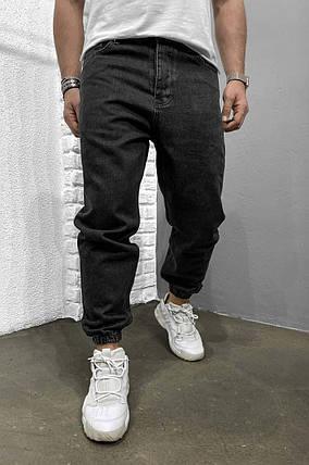 Мужские джинсы-джоггеры черного цвета, фото 2