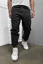 Мужские джинсы-джоггеры черного цвета, фото 3