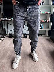 Чоловічі джинси сірі під манжет