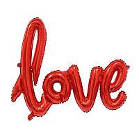 Надувные шарики LOVE (красный) 108см