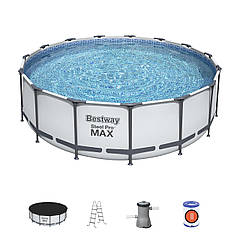 Bestway 56100/56438 (457x122 см.) Каркасный бассейн Steel Pro Frame Pool