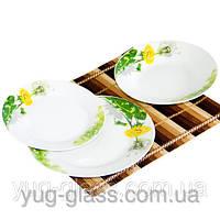 Сервиз  столовый  фарфоровый белый  18  единиц