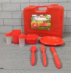 Набор посуды для пикника и туризма 4 персоны 27 предметов R81887 Посуда для путешествий