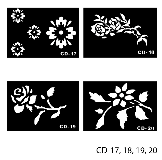 Трафареты для татуажа Lady Victory LDV CD/43-0 - Promparfum — парфюмерия, косметика, ногтевой сервис в Харькове