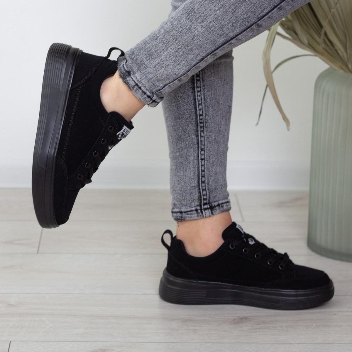 Кеды женские Fashion Apachie 2515 38 размер 24,5 см Черный