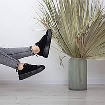 Кеды женские Fashion Apachie 2515 38 размер 24,5 см Черный, фото 3