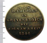 Пробный модуль , пробная монета или демонстрационный жетон 1846 года №198 копия
