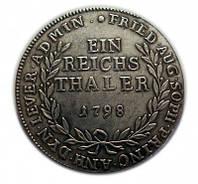 Монета талер 1798 года для княжества Йевер  (Йеверский талер) №199 копия