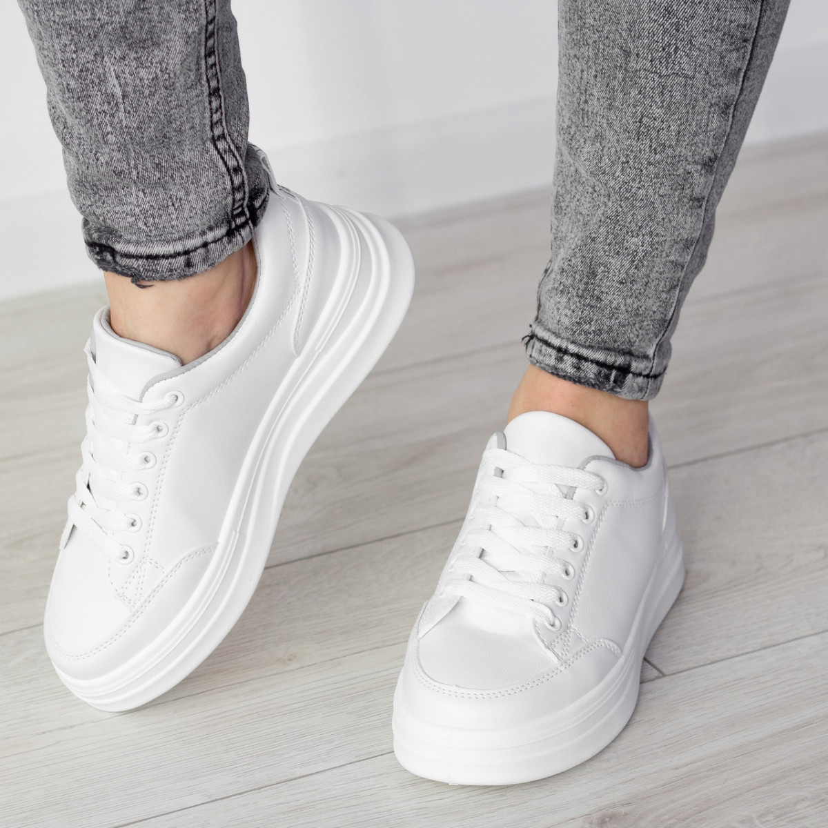 Кросівки жіночі Fashion Boggs 2525 36 розмір 22,5 см Білий 38