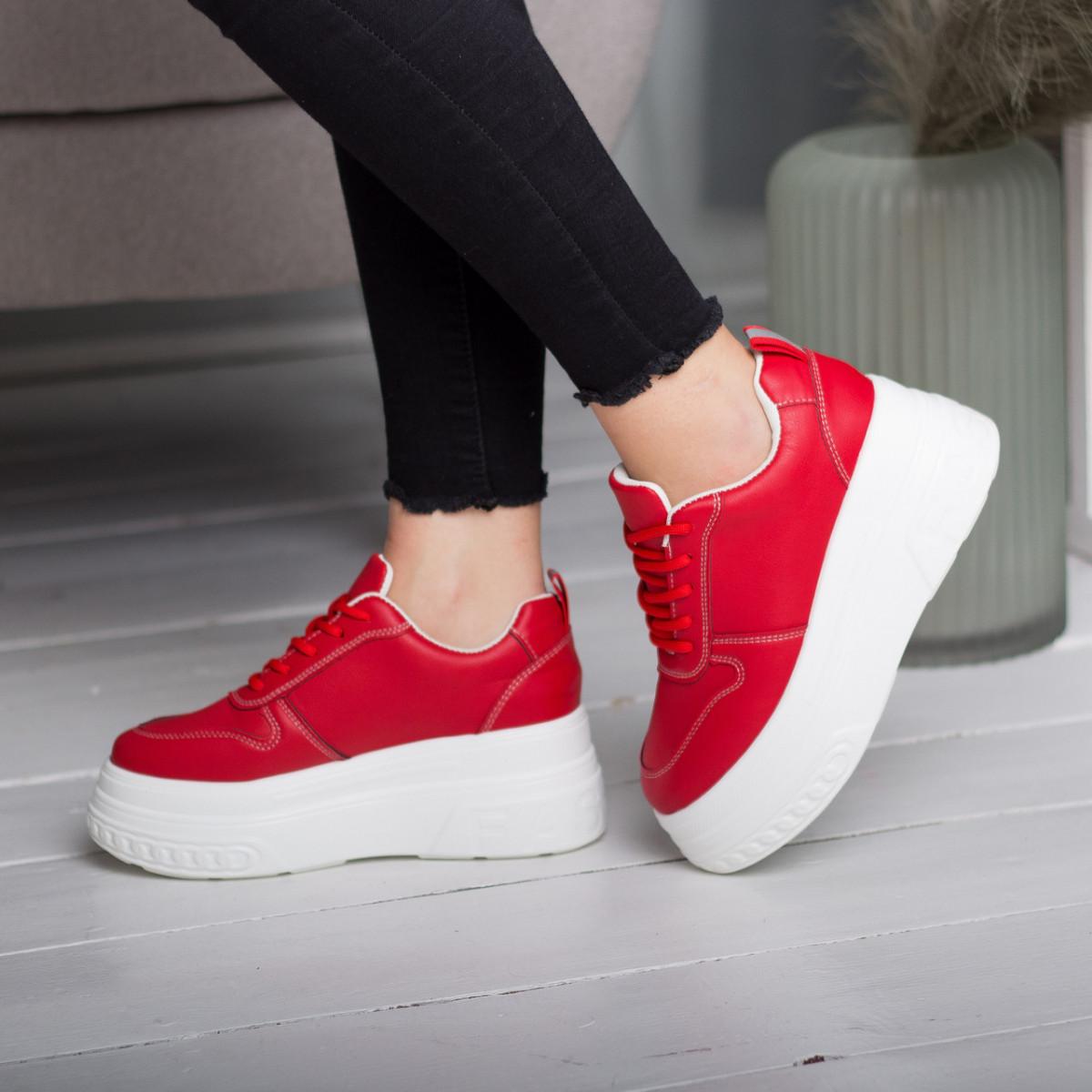 Сникеры женские Fashion Bowser 2599 37 размер 23,5 см Красный