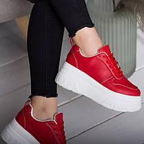 Сникеры женские Fashion Bowser 2599 37 размер 23,5 см Красный, фото 3