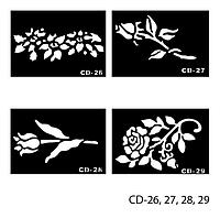 Трафареты для татуажа Lady Victory LDV CD /43-0