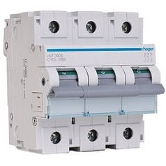 Автоматический выключатель 100 А, 3п, С, 10 kA, hager (Франция)