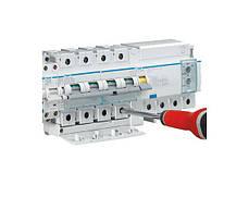 Автоматичний вимикач 100 А, 3п, С, 10 kA, hager, Франція, фото 2