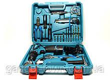 Аккумуляторный шуруповерт MAKITA DF 330DWE и большой набор инструментов в кейсе (Шуруповерт Макита)