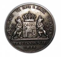 2 талера 3 1/2 гульдена Талер 1856 Максимилиан II копия монеты в серебре №203 копия