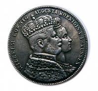 1 талер 1861 Вильгельм I и Августа копия памятной монеты №204 копия