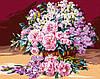"""Картина за номерами. Brushme """"Ніжний рожевий букет"""" GX24105"""