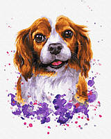 """Картина по номерам. Brushme """"Собачка в красках"""" GX33825"""