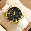 Элегантные наручные часы Geneva White/Gold/Black 1059