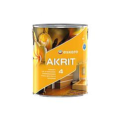 Глубокоматовая краска для стен и потолка Eskaro Akrit 4 2,85 л (Эскаро Акрит 4)