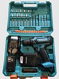 Шуруповерт аккумуляторный Makita 550DWE и набор инструментов в кейсе (Макита 24V 5A/h) 2 аккумулятора, фото 2